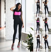Wholesale Sleeveless Spandex Suits - Sport Suit Women Hollow Back Bandage Jumpsuit For Running Jogging Sleeveless One-piece Women Fitness Yoga jumpsuit Set E589