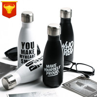 Wholesale cross country car resale online - Fashion Car Coke Waters Bottles Bowling Insulation Cups Stainless Steel Kettles With Lid Water Bottle Leak Proof Kettle Black hg B R