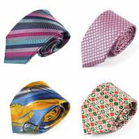 Wholesale Silk Neck Ties Xl - 34 colors Men's tie, colorful, multi-colored, striped ,Watercolor neckties 8.5CM