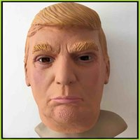 Wholesale US President Mr Donald Trump Latex Mask Full Face Mask Costume Party Mask Halloween Mask Overhead Mask