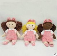 Wholesale Gift Products For Christmas - 35cm European Style Plush Dolls Toy Top Qaulity Little Girl Princess Plush Soft Stuffed Doll For Girls Birthday Christmas Gifts