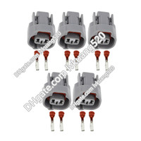Wholesale male automotive connector - 5 Sets 2 Pin Quick Electronic Connector Male and Female Wire Harness Automotive Connector DJ70211Y-2.2-21