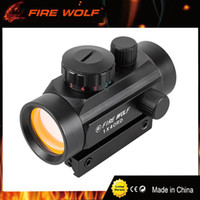 Wholesale Red Dot Gun - FIRE WOLF 1x40 Hunting Tactical Holographic Riflescopes Red Green Dots Optical Sight Scope Adjustable Rifle Gun Scope
