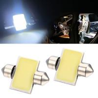 Wholesale Cob Car Interior Light - 2PCS White 31mm 12-SMD 12V COB LED Car Interior Festoon Dome Map Light Bulbs DE3175 CLT_04K