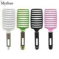 Wholesale Diffuser Tip - Nylon Ball-tip Teeth Curve Brush Scalp Massage Comb,Diffuser Blowing Wet Hair Brush,Personal Hair Care Salon Tools C-04