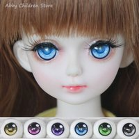 Wholesale 16mm Cartoon - BJD SD Safety Doll Eyes For Cartoon Doll Accessories 1 Pair 1 3 1 4 1 6 14mm 16mm 18mm Acrylic Eyeball Eyes Toys For Girl