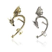 Wholesale Ear Clip Jewelry Dragon - 2016 New Arrival Ear Cuff Punk Clip On Earrings For Women Vintage Dragon Ear Clips Earcuffs Brinco Fine Jewelry Orecchini Aretes