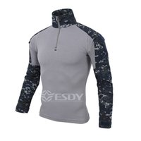 Wholesale Special Tees - Shanghai Story Men Tactical Gear Military Airsoft Special Ops Combat Shirt Camouflage Light Weight Rapid Assault Long Sleeve Shirt Frog Tee