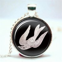 Wholesale necklace bird cage - 10pcs lot bioshock infinite bird cage pendent Glass Photo Cabochon Necklace1