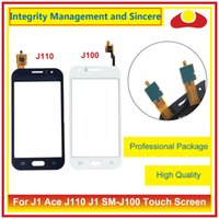 Wholesale Galaxy Ace Touch - For Samsung Galaxy J1 Ace J110 and J1 SM-J100 Touch Screen Digitizer Outer Glass Lens Panel Black White Free Shipping