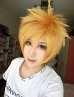 Wholesale Ao Exorcist Wig - MCOSER Free Shipping High Quality Synthetic Ao no Exorcist Shima Renzou 13 Inches Golden Short Man Wig