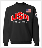 Wholesale Natural Baskets - Men's Pullover USA basket-ball jersey Dream Team Sweatshirt sport Hoodie Men's Long Sleeve Sweatshirts Team US Hoodies Men