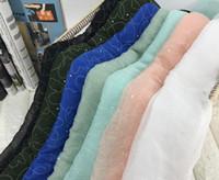 tecidos de seda chiffon floral venda por atacado-Venda Por Atacado 7colour chiffon em forma de coração chiffon tecido de poliéster vestidos de noiva, impressão de cetim floral tweed tecido de seda barato B715