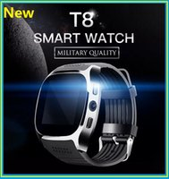 """Wholesale Gsm Gps Tracker Camera - Smart Watches Intelligent Positioning T8 MTK6261D Nucleus System 1.54""""IPS Support 2G GSM Calls 30W Camera Bluetooth 4.0 Facebook Twitter"""
