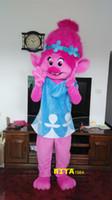 ingrosso costumi della mascotte della principessa degli adulti-Costume adulto di Troll Princess Poppy Mascot Costume Spedizione gratuita