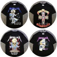 Wholesale Band T Shirt Applique - Metallica Men T Shirt 1:1 High Quality Justin Bieber Mens Shirts Metallica Dorris Skeleton Rock Band Tee Metallica Metal T-Shirt