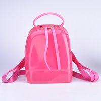 Wholesale leather backpack satchel korean - Jelly package Children Bags Cartoon Backpacks Girls Purses Shoulder Bags Korean Princess Kids Leather Bag Satchel Bag Handbags A148