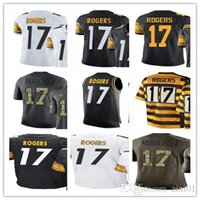 Men's # 17 Eli Rogers Vapor Untouchable Rush leggenda Limitata Throwback bianco e nero Canotta Saldi Salute to Service Elite Jersey