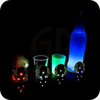 Wholesale Pe Bar - Coaster Sticker Light Up Led Flashing Bottle Water Proof Multi Function For Holiday Party Bar Club Decoration 2 5mj F