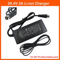 Wholesale 24v Li Ion Charger - 29.4V 2A Li ion Battery charger RCA Port 24V 2A for 24V 7S Lithium Li-ion ebike bicycle electric bike battery charger