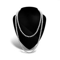 ingrosso la perla di avorio borda la ghirlanda-Stringa di ghirlanda di perle avorio per decorazioni da sposa per corpetti da sposa Collana di perle bianche Girocolli Collane Lunghe perle di perle Collana di perle