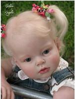 Wholesale Dolls For Children Girls - Arianna reborn toddler Reva Lifelike Baby Dolls For Children Fashion dolls Accessories Reborn Baby doll kit Silicone Vinyl