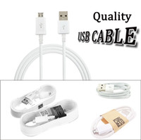 Wholesale Charge Blackberry Usb - Top quality 1.5m 5ft 1.2m 4ft 1M 3ft micro usb data cable android charging line charge cord adapter cables for Cell phone tablet