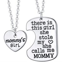 Wholesale 2 quot There is this girl she stole my heart she calls me grandpa grandma daddy mommy quot Family Pendant Fashion Jewelry Set