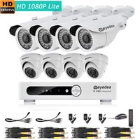 Wholesale Dome Camera Remote Control - Eyedea 8 CH 1080P Remote Mobile Control DVR Video Surveillance Recorder 3500TVL Bullet Outdoor Night Vision CMOS CCTV Security Camera System