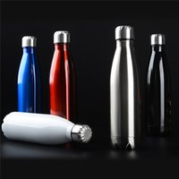 Wholesale Vacuum Water Flask - Amathing Water Bottle Vacuum Flask Cup Sports 304 Stainless Steel Cola Shape Mugs Vacuum Insulation Cups 500ml 0703090