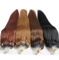 Wholesale Hair Extensions Micro Looped Cheap - Cheap 24inch Micro loop human hair extensions straight cabelo human 1g s human hair micro rings extension 100g