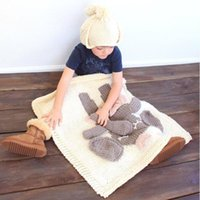 Wholesale Baby Knitting Designs - 4 Design Hand Knit Crochet Baby Blanket Swaddle Wrap Baby Crochet Swaddles 3D Blankets Air Condition Bath Towels