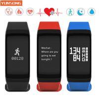 Wholesale Digital Wrist Heart Blood Pressure - Wholesale- Smart bracelet Blood Pressure Smart Band Digital Pulse Oximeter Heart rate Monitor Sleep Monitor Wristband IOS Android Fitness