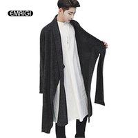 ingrosso giacche con cappotti in stile punk-Cardigan lavorato a maglia da uomo nuovo Cappotto oversize in maglione lungo oversize in stile punk maschile