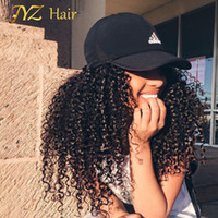 JYZ Cheap 130% Density Long Kinky Curly Full Lace Wig Virgin Mongol Lace Frente Peruca Kinky Curly Human Hair Wigs For Black Women