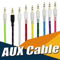 Braided AUX 3.5mm Stereo Auxiliary Car Audio Cord Cable Extension 3ft 1M Wired Male to Male Pour iPhone X 8 iPod iPad MP3 Headphone Speaker