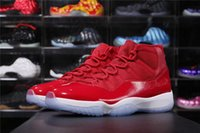 Wholesale Basketball Sneakers Authentic - Hottest 2017 Air Retro 11 Win Like 96 Gym Red Chicago Air 11s XI Men Basketball Shoes Authentic Sneakers With Box
