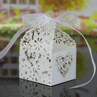 Wholesale Boxes For Cupcakes - Wholesale-20pcs favor Wedding Candy Box for Festival paper Gift cupcake Boxes for Banquet Romantic Wedding Decoration party supplies