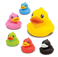 plastik ördekler toptan satış-50pcs lot B.Duck plastic pvc bathing rubber duck, promotional rubber duck toy