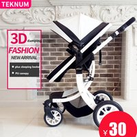 Wholesale Stroller Shock Absorbers - Hot sell baby Stroller Multi function Folding car Leather material ,Windproof Waterproof Best shock absorbers Light and fashion
