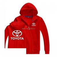 Wholesale Men Winter Long Work Coats - Wholesale- Autumn and winter Toyota sweatshirt 4S shop sales staff work clothes garments factory zipper Hooded coat