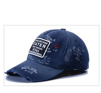 Wholesale DSQ Selling blue classic manual hook embroidery baseball cap hat fashion cotton outdoor sports leisure men sipping