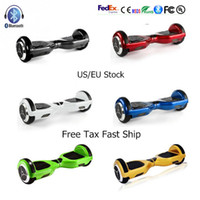 Wholesale Blue Electric Led - US UK Stock Scooter Bluetooth 6.5 Inch Hoverboard Electric Scooter with LED Light Smart Balance Self Balancing Skateboard Fast No Tax Ship