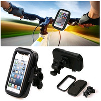 Wholesale Bike Smartphone Holder - New Universal Waterproof Motorcycle Bike Bicycle Band Handlebar Mount Holder Case GPS For iPhone Samsung Smartphone