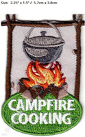 Wholesale Sticker Cooking - CAMPFIRE COOKING CAMPING FOOD Travel Souvenir Patches Outdoor Out to Live Clothing Iron On Badge for bag clother stickers
