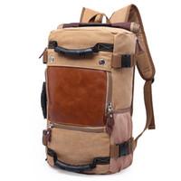 große segeltuchgepäckbeutel großhandel-Großhandels-DB27 heißer Verkaufs-Qualitäts-Förderung-Mode-Designer-Weinlese-Segeltuch-große Größen-Mann-Reise-Taschen große Kapazitäts-Gepäck-Rucksäcke