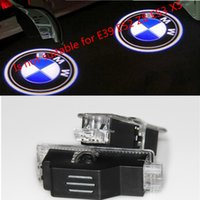 Wholesale Laser Car Logo Door Light - 2pcsX Ghost Shadow Light Welcome Laser Projector Lights LED Car Logo For BMW M Performance E60 M5 E90 F10 X5 X3 X6 X1 GT E85 M3