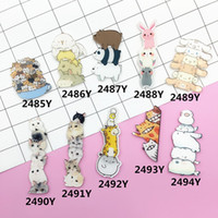 ювелирные украшения хараюку оптовых-Wholesale- Acrylic Brooch Pins Cat Dog Giraffe  Brooches Women Men Jewelry Shoes Package Clothes Accessories Japan Harajuku Badges