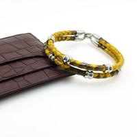 lederarmband dropship großhandel-Luxus Armbänder Python Haut Lederarmband für Frauen Mann Beste Freunde Geschenk pulseira Großhandel Direktversand