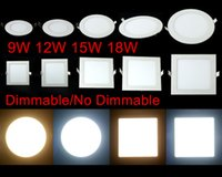 Wholesale Price Square Down Light - Lowest Price Ultrathin 9W 12W 15W 18W 23W LED Panel Lights SMD2835 Downlight AC110-240V Fixture Ceiling Down Lights Warm Cool Natural White